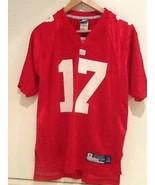 PLAXICO BURRESS #17 NY Giants Reebok Jersey Size Youth Large 14-16 RED EUC - $16.95
