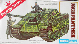 Aurora ESCI JAGDPANTHER Prestige Series plastic model kit - Open, complete - $5.00