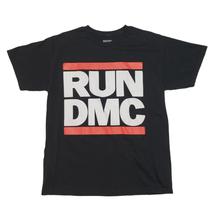 Run DMC T-Shirt Official Rap Tee Short Sleeve Black Logo 100% Cotton Men... - £15.99 GBP