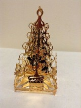 """Danbury Mint - 1990 Gold Christmas Ornament -  """"Tree with Gifts"""" (B11) - $15.95"""
