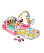 Fisher-Price Deluxe Kick & Play Piano Gym & Pink Piano Gym & Maracas, Pink - $58.33