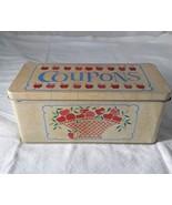 Vintage 1989 Autumn Apples Coupon Tin - $15.00