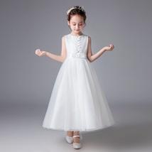 Wedding Flower Girls Dresses White Half Sleeve Pageant Gowns A Line Part... - $33.00