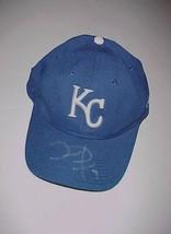 David DeJesus #9 Kansas City Royals MLB Adult Unisex Blue Cap 1 Size New SIGNED - $24.74