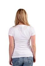 Famous Stars & Straps Womens White Scroll STFU OMG LMAO ROFL SUP Juniors T-Shirt image 3