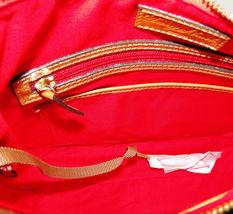 Dooney & Bourke Triple Zip Calf Leather Crossody NWT Brown image 8