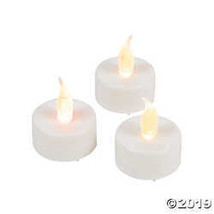 Set of 12 Plastic Battery Operated Flameless Tealight Wedding Candles - $19.36