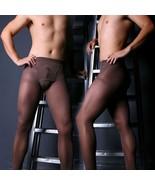 80D Sheer Transparant Pantyhose Long Johns Stretch See-through Pantiy Un... - $11.39