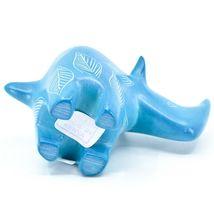 Vaneal Group Hand Carved Kisii Soapstone Blue Rhinoceros Figurine Made Kenya image 5