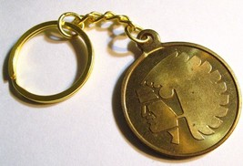 Mutual Of Omaha Keychain - Vintage American Indian Head Insurance Medal ... - $24.74