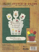 Bucilla 32493 Stitch n Paint 2 Craft Products in 1 FLOWER POT Cross Stitch - $8.99
