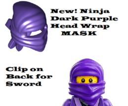 New LEGO® Purple Ninja Wrap Head Scarf Minifigure Gear Ninjago NELSON Gi... - $3.32