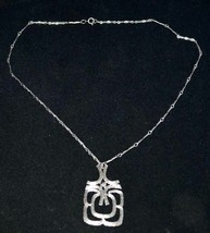 "vintage 70""s   modern silvetrtone Pendant Necklace by Avon - $24.74"
