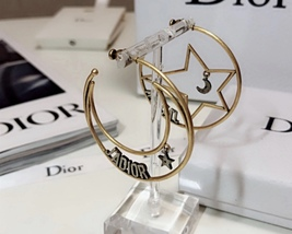 AUTHENTIC Christian Dior 2018 LIMITED EDITION J'ADIOR LARGE HOOP EARRINGS GOLD  image 4