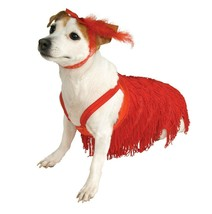 Red Flapper Dog Costume Halloween Cosplay Dress Up Rubie's Pet Shop Smal... - $7.91