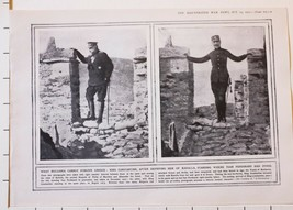 1915 WWI WW1 PRINT KING CONSTANTINE STANDING WHERE TSAR FERDINAND HAD STOOD - $50.94