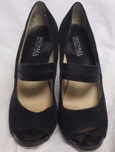 "Woman's Michael Kors Black Heels Size 7 USA 3"" ... - $39.59"