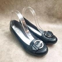 LifeStride Womens Margot  Size 9 Black  Slip On Low Wedge Heels - $16.99