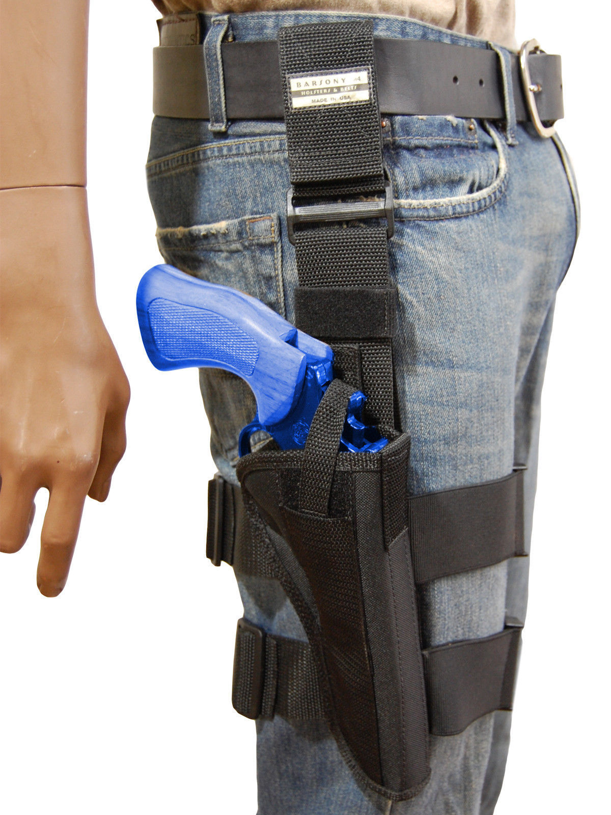 "Primary image for NEW Barsony Tactical Leg Holster for 6"" S&W .38 .357 .41 .44 Revolvers"