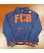 Official FC Barcelona Full Zip Soccer Sweatshirt Blue Spell Out Mens Siz... - $24.14