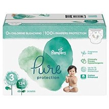 PAMPERS Pure Protection Diapers Size 3-124CT