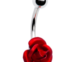 754 single red rose belly ring thumb155 crop