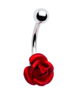 Ravishing Red Rose Belly Ring - $16.99