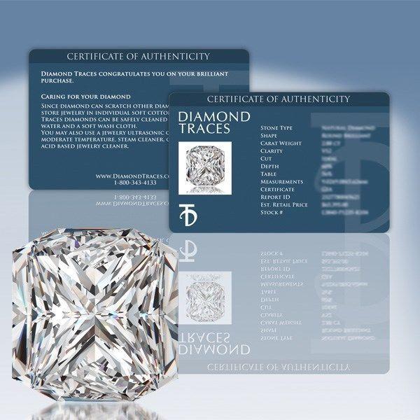 1.54ct I-SI1 Ideal Cut Square Radiant AGI 100% Genuine Diamond 6.18x6.06x4.80mm