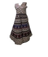 INDIAN HAND BLOCK PRINTED GOWN ONE PIECES FOR GIRLS WOMEN WERE TRADITION... - $17.67