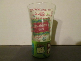 Lolita hand painted, 'Birthday Girl Too', shot glass. New in box. - $10.00