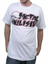 Metal Mulisha Bianco Corpo Logo T-Shirt Piccolo Nwt
