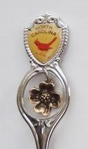 Collector Souvenir Spoon USA North Carolina Cardinal Emblem Dogwood Char... - $4.99