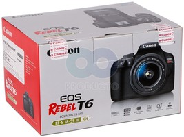 NEW Canon Eos Rebel T6 Digital Slr Camera EF-S 18-55mm f/3.5-5.6 IS III ... - $352.36