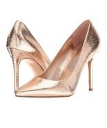Michael kors claire pump metallic leather size 8 soft pink New - $99.75