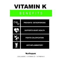 Orthopure Collagen Peptides Fortified with Vitamin D3 and Vitamin K2, 18g Collag image 8