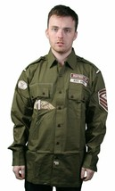District 81 Green Button Up Shirt Size: M