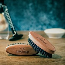 ZilberHaar Soft Pocket Beard Brush – 100% Boar Bristles with Firm Natural Hair – image 5