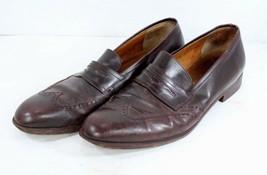 Salvatore Ferragamo Mens 10.5 Brown Leather Slip On Loafer Dress Shoes  - $85.09