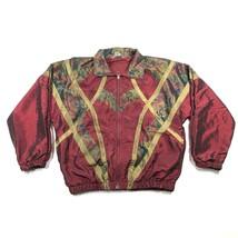 Great Cavalier Womens L Nylon Lined Windbreaker Wild Red Camouflage Rain... - $18.70