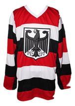 Custom Name # Team Germany Retro Hockey Jersey New Any Size image 4