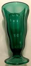 Vintage Retro Anchor Hocking Green 12oz Ice Cream Malt Soda Fountain Gla... - $14.84