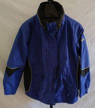 Columbia Softshell Ascender OmniShield Hood Windbreaker Jacket Blue/Black Size L - $44.55