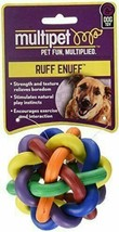 """NEW MULTIPET NOBBLY WOBBLY KNOT BALL 3"""" RUBBER MEDIUM PUPPY DOG PET PLAY... - £6.36 GBP"""