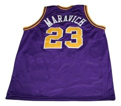 Pete Maravich #23 Broughton High School New Basketball Jersey Purple Any Size image 2