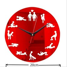DIY Bachelorette Adult Room Decorative Wall Clock Love Position Mirror S... - $23.92+