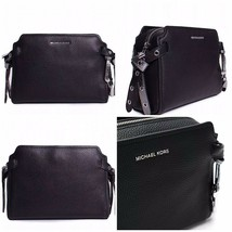 New Michael Kors Bristol Pebbled Leather Medium Messenger Handbag in Black $248 - $187.16