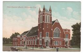 First Baptist Church Oklahoma City 1910c postcard - $3.96
