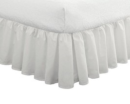 "Fresh Ideas Bedding Ruffled Bed Skirt, Classic 14"" drop length, Gathered... - $27.07"