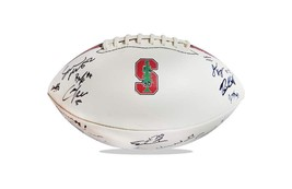 2015 Stanford Cardinal team signed football w/Certificate autographed (52) - $203.94