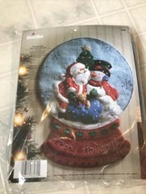 "BUCILLA FELT KIT  "" SNOWGLOBE""  RARE HTF Felt HOME DECOR ~ 86070 - $93.33"